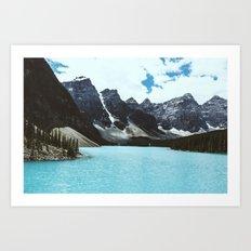 Lake Moraine landscape Art Print
