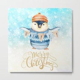 Christmas penguin #1 Metal Print