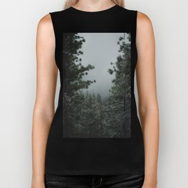 Backwoods Winter: Ponderosa Pines, Washington Biker Tank