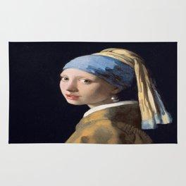 Johannes Vermeer's Girl With a Pearl Earring Rug