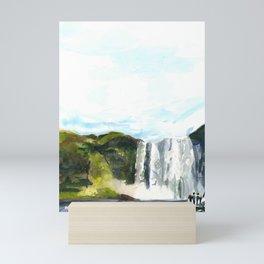 Skogafoss Mini Art Print