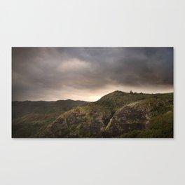 Anawhata cliffs sunrise Waitakere Ranges Auckland West Coast Canvas Print