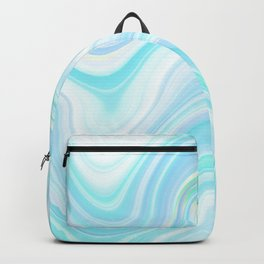 Cool Pastel Blue Lava Marble  #marble #society6 #abstractart Backpack