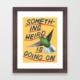 something weird Framed Art Print