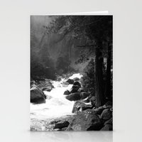 archan nair Stationery Cards featuring Whiteout Yosemite-2 by Deepti Munshaw