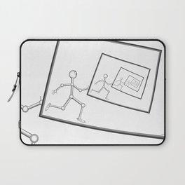 A Robot Running Into Itself Laptop Sleeve