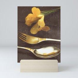 Flowers on Slate, variation 3 Mini Art Print