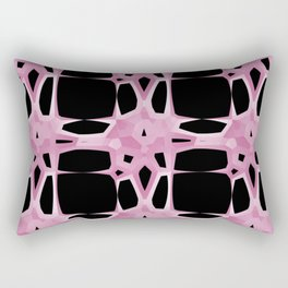 Mid Century Modern Retro Stars Blush Black Rectangular Pillow