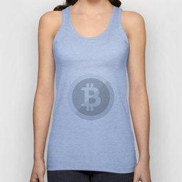 Bitcoin Silver Coin Unisex Tank Top