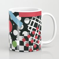 tape Mugs featuring Ticker Tape by Patricia Shea Designs