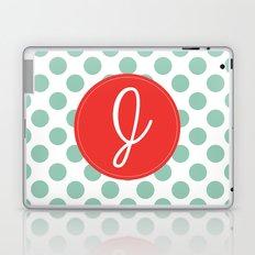 Monogram Initial J Polka Dot Laptop & iPad Skin