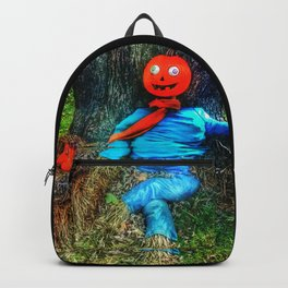crazy eyes scarecrow Backpack