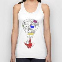 hot air balloon Tank Tops featuring Hot Air Balloon  by Ben Jones
