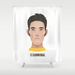 "Eddy ""THE CANNIBAL"" Merckx Shower Curtain"