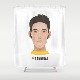 "Eddy ""THE CANNIBAL"" Merckx Shower Curtain"