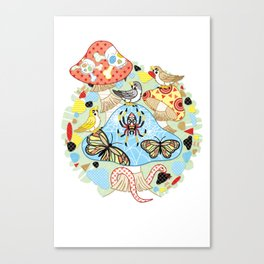 Poisonous mushroom and twitter of sparrows (remake) Canvas Print