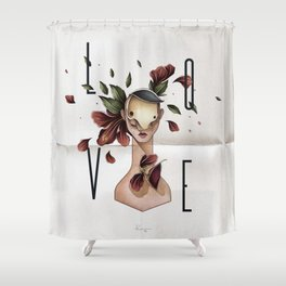 // L O V E // Shower Curtain