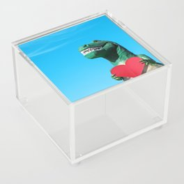 Tiny Arms, Big Heart: Tyrannosaurus Rex with Red Heart Acrylic Box