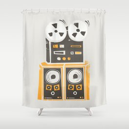 Reel to Reel Player Shower Curtain