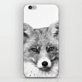 Black and White Fox iPhone Skin
