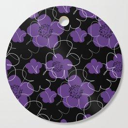 Purple Blooms Cutting Board