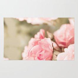 Vintage rose bouquet sepia toned flowers Rug