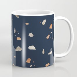 Midnight Navy Terrazzo #1 #decor #art #society6 Coffee Mug