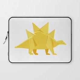 Origami Stegosaurus Flavum Laptop Sleeve