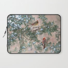 Winter Pair Cardinals (sq) Laptop Sleeve
