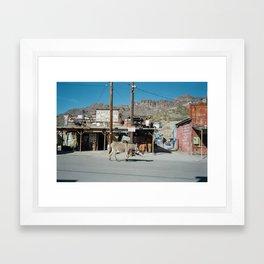 Jackass Junction Framed Art Print