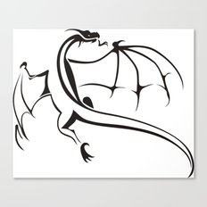 A simple flying dragon Canvas Print