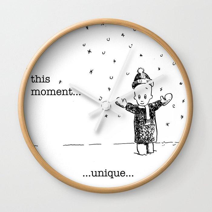 this moment...unique Wall Clock