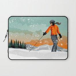 Skier Looking Laptop Sleeve