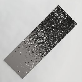 Silver Gray Glitter #1 #shiny #decor #art #society6 Yoga Mat
