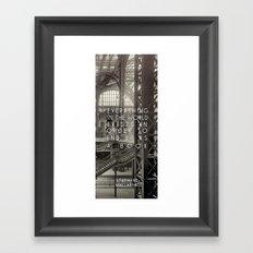 in the world Framed Art Print