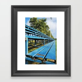 Summer days at school Framed Art Print