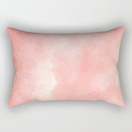 Coral pink watercolor abstract brushstrokes pattern Rectangular Pillow