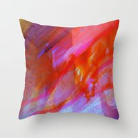 watercolour Throw Pillows featuring watercolour by Lara Gurney