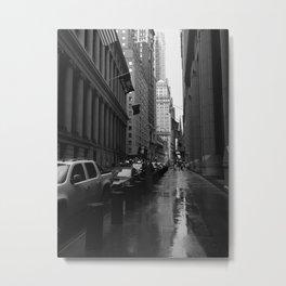 Wall Street B&W Metal Print
