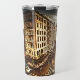 chinatown in nyc at dusk Travel Mug