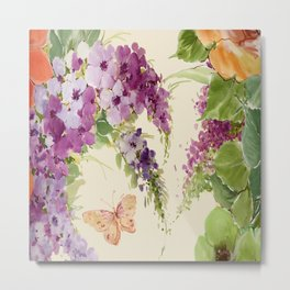 Butterfly Bush floral Metal Print