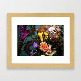 a gathering of flowers Framed Art Print