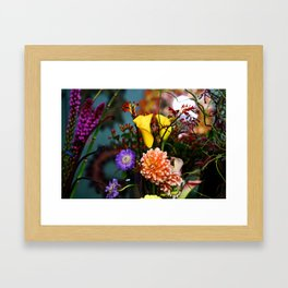 a gathering of flowers Framed Art Print