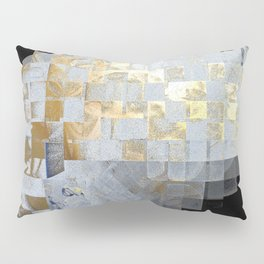 Squares in Gold and Silver Pillow Sham