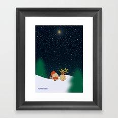 Nicolas&Rudolph (Star) Framed Art Print