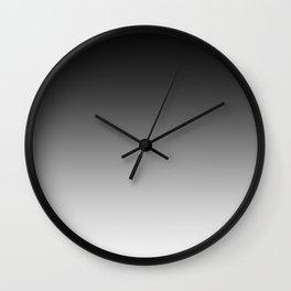 Black to White Horizontal Linear Gradient Wall Clock