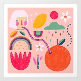 Summer and citrus Art Print