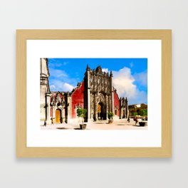 The Metropolitan Tabernacle At The Cathedral in Mexico City Framed Art Print
