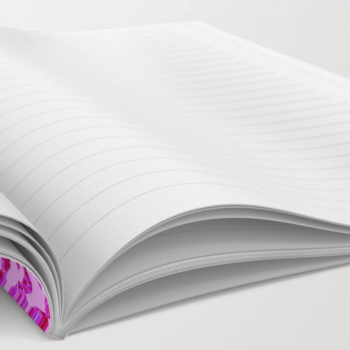 Light Pink Glitter Tiger Print Notebook