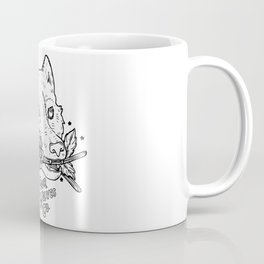 Four Wolves Co. // Wolf and Marigolds Coffee Mug